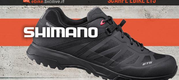 Shimano ET5: le scarpe per e-bike