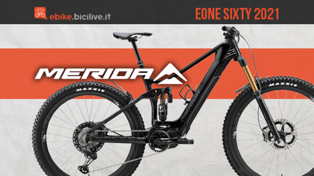 Linea Merida eOne Sixty 2021: sei ebike mullet per enduro e all mountain