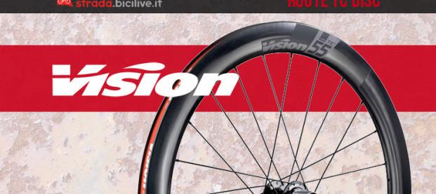 Vision TC Disc: le nuove ruote in carbonio a tre profili dell'azienda statunitense