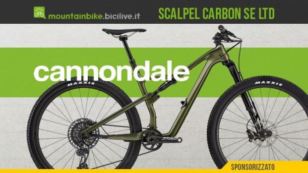 La nuova Cannondale Scalpel Carbon SE LTD Lefty con forcella Lefty Ocho 120