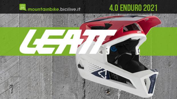 Il casco Leatt 4.0 Enduro 2021 con mentoniera asportabile