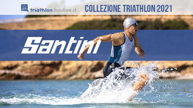 La collezione body Santini 2021 dedicata ai triatleti