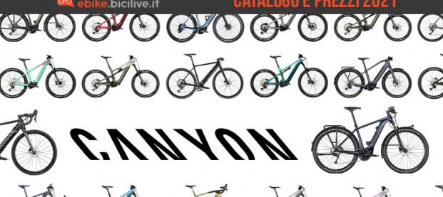 Il catalogo delle ebike Canyon 2021: 10 linee e 39 modelli elettrici