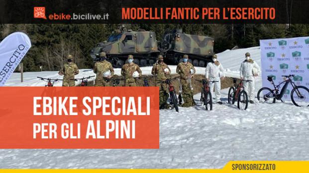 Fantic e-bike agli Alpini: una sperimentazione verso il futuro