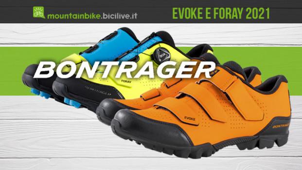 Le scarpe a sgancio rapido Trek Bontrager Evoke e Foray