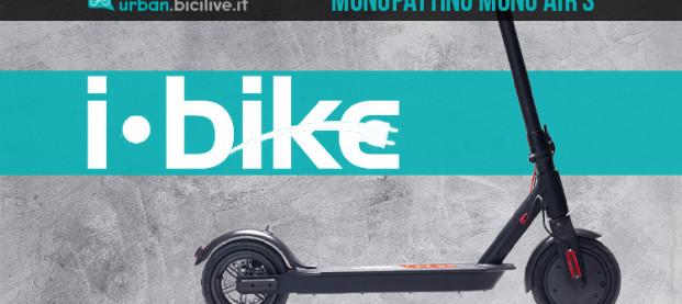 Il monopattino elettrico per la città i-Bike Mono Air S