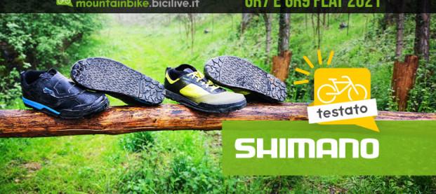 Il test delle scarpe MTB Shimano GR7 e GR9 per pedali flat