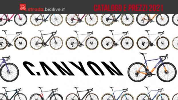 Canyon 2021: il catalogo e listino prezzi bici da corsa, gravel e ciclocross