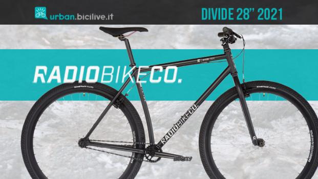 Divide 28″, la city bike single speed di Radio Bikes per muoversi con stile in città