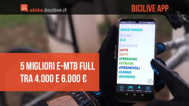 BiciLive APP: le 5 migliori eMTB full 2021 da 4.000 a 6.000 euro