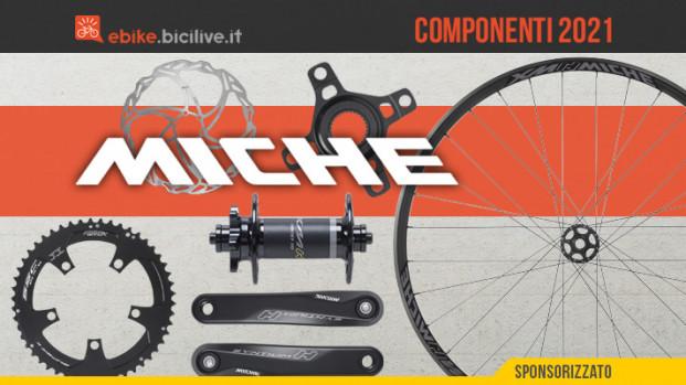 Tutta la componentistica Miche dedicata alle e-bike