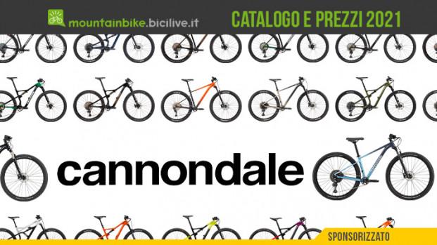 Cannondale: il catalogo e il listino prezzi MTB 2021