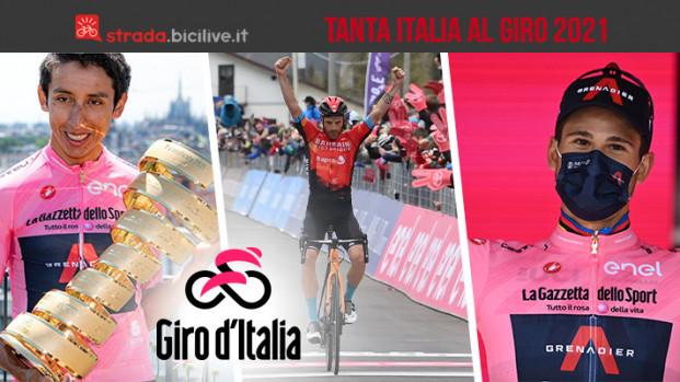 Giro 2021: oltre a Bernal, tanta Italia