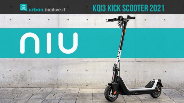 Kick Scooter è il primo monopattino elettrico di NIU
