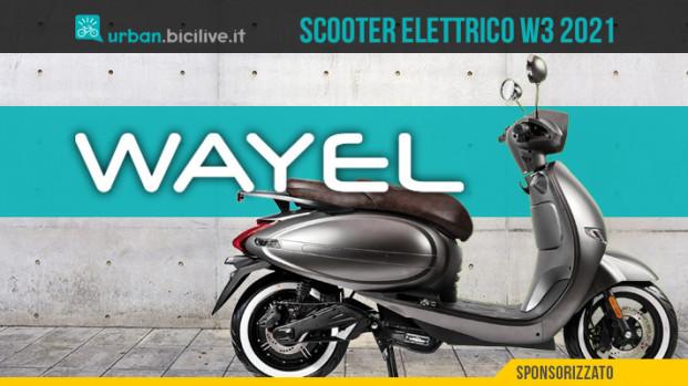 Il nuovo scooter elettrico Wayel W3
