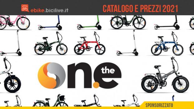 The One: il catalogo 2021 di ebike e monopattini elettrici