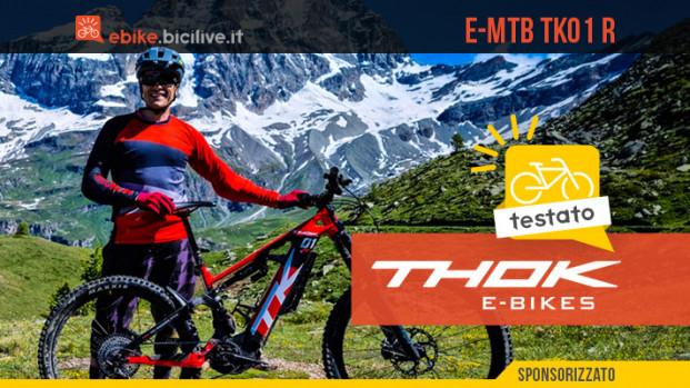 Il test della eMTB THOK TK01 R con motore Shimano EP8