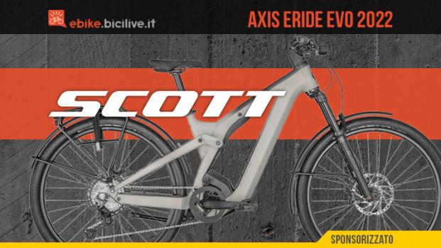 Scott Axis eRIDE Evo 2022: ebike crossover per l'avventura