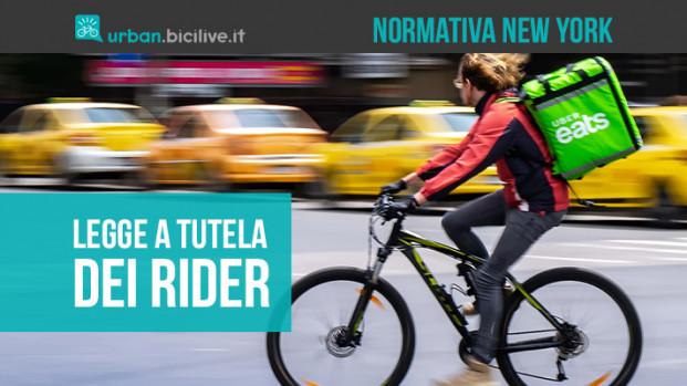New York, una nuova legge tutela i corrieri in bici del delivery food